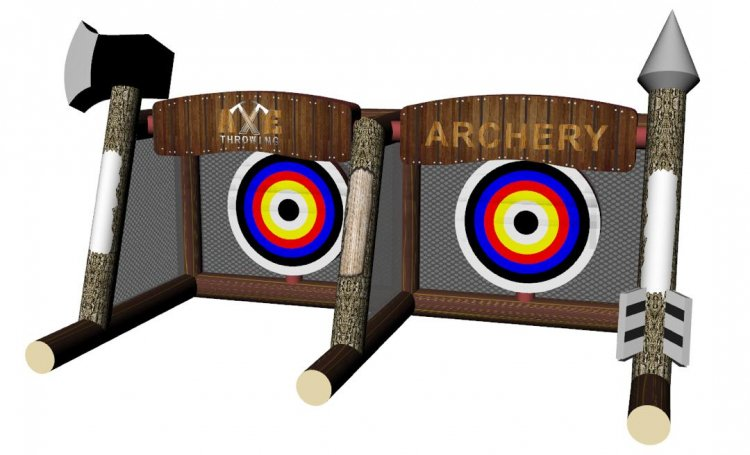 Inflated Archery/Axe Throwing 18'Lx9'Wx10H