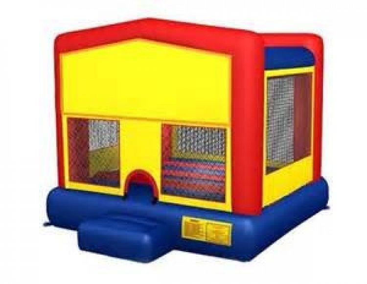 Themed Modular Bouncy w basketball 14'L x 14'W x 13'H